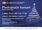 Předvánoční koncert školy 2017