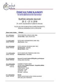 29. 5. 2018 - 27. 6. 2018 BYSTŘICKÉ ZÁMECKÉ SLAVNOSTI