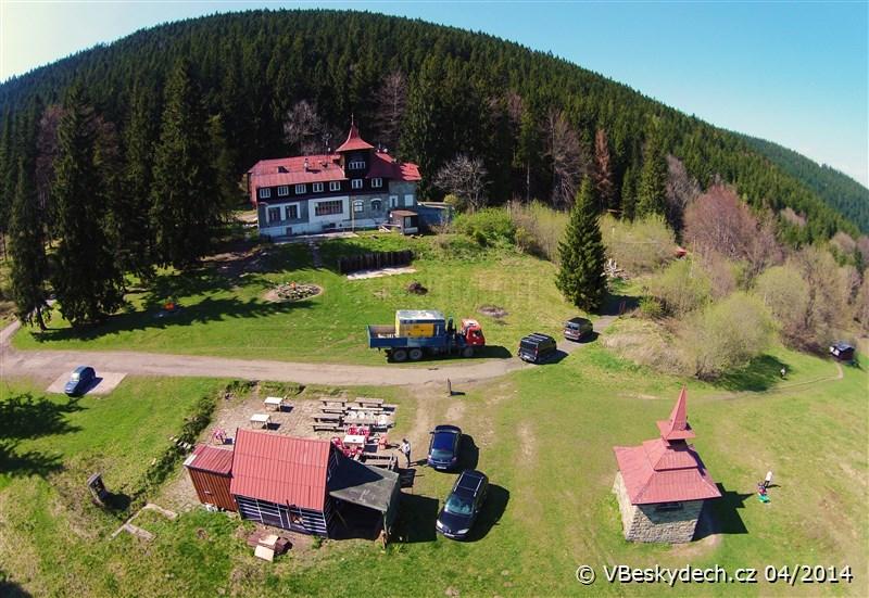 Solárka na Ondřejníku, turistická chata Ondřejník, kiosek, kaple