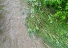 Řeka Ostravice ve Frýdlantě n. O. - velká voda květen 2014