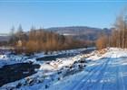 pohled od železničního mostu a řeky Ostravice
