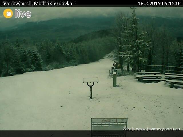 Lyžařský areál Javorový vrch - Modrá sjezdovka