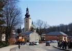 Centrum města, pohled z ulice Nádražní