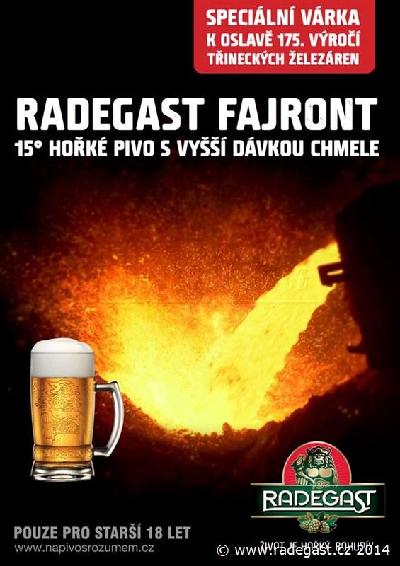 Pivovar Radegast vaří speciální pivo Fajront
