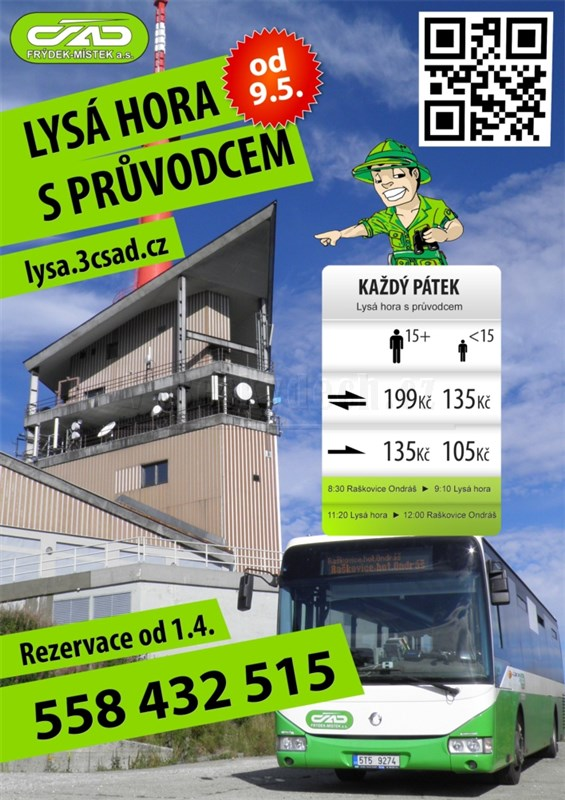 Autobus na Lysou horu - Raškovice - Lysá hora