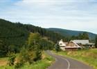 Krásná - Vyšní Mohelnice, výhled na Lysou horu, údolí Sihelského potoka