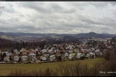 Rožnov pod Radhoštěm - Pohled na městskou čtvrt Letná
